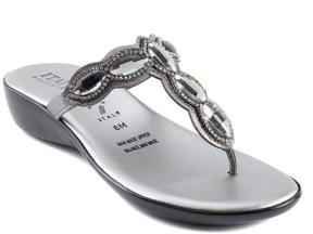 Italian Shoemakers Ari Embellished Thong Sandal