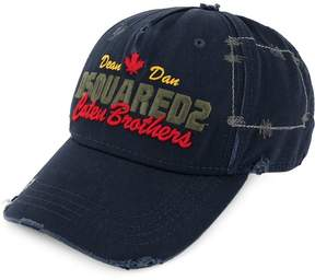 DSQUARED2 Caten Brothers embroidered baseball cap