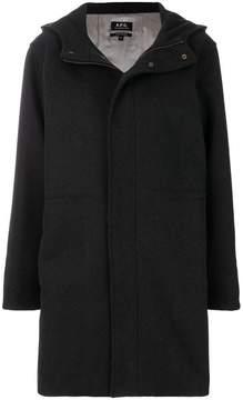 A.P.C. hooded duffle coat