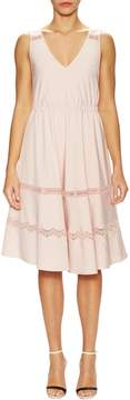 Ava & Aiden Women's Lace Inset Flared Dress