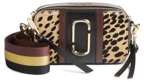 Marc Jacobs Snapshot Leopard Crossbody Bag - Black - BLACK - STYLE