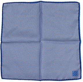 One Kings Lane Vintage Louis Vuitton Blue Silk Pocket Scarf - Vintage Lux