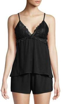 Flora Nikrooz Flora By Two-Piece Rose Lace Camisole and Shorts Set