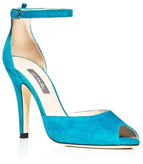 Sarah Jessica Parker Marquee Suede High Heel Sandals - 100% Exclusive