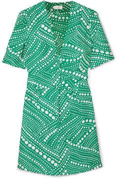DAY Birger et Mikkelsen RIXO London - Laura Printed Crepe Mini Dress - Jade