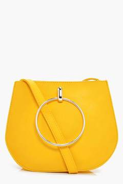 boohoo Jodie Large Ring Saddle Cross Body Bag