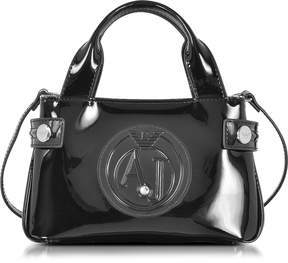 Armani Jeans Signature Mini Patent Leather Tote Bag