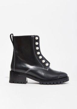3.1 Phillip Lim Hayett Lug Sole Zipper Boots Black Size: EU 36.5