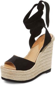 Paul Andrew Women's Lulea Suede Espadrille Wedge Sandal