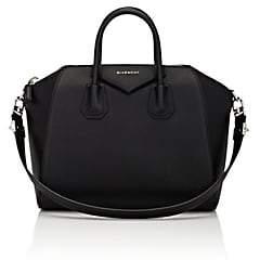 Givenchy Women's Antigona Leather Medium Duffel-Black 001