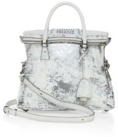 Maison Margiela Mini Painted Metallic Leather Tote