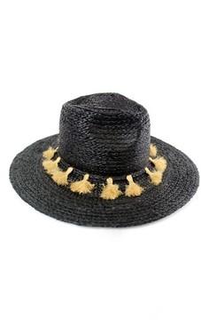 Michael Stars Women's Mystros Tassel Panama Hat - Black