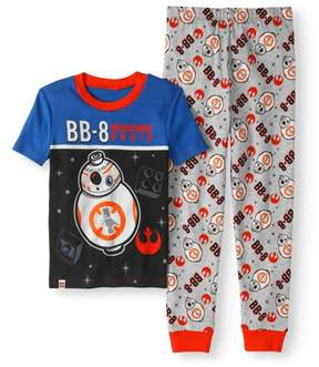Star Wars Lego Boys' BB-8 Glow-in-the-Dark 2-Piece Pajama Set