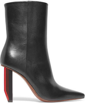 Vetements Glossed-leather Ankle Boots - Black