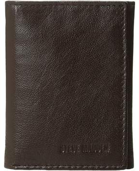 Steve Madden Smooth Leather RFID Blocking Trifold Wallet