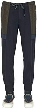 Kolor Wool Blend Knit & Nylon Jogging Pants