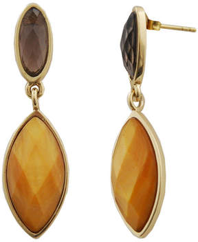 Mother of Pearl ARTSMITH BY BARSE Art Smith by BARSE Smoky Quartz & Caramel-Color Mother-Of-Pearl Earrings