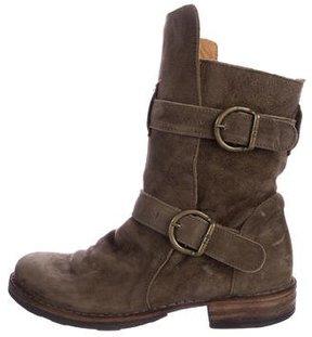 Fiorentini+Baker Suede Round-Toe Boots