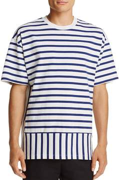 Public School Striped Crewneck Short Sleeve Tee