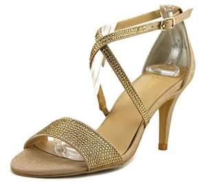 Thalia Sodi Dulcep Women Open-toe Synthetic Gold Heels.