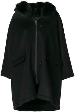 Ermanno Scervino coat with fox fur hood