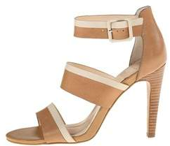 Isola Womens Brianna Leather Open Toe Casual Strappy Sandals.