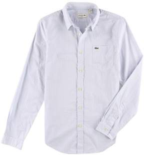 Lacoste Mens Pocket Button Up Shirt