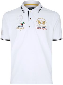 La Martina Contrast Trimmed Crest Polo Shirt