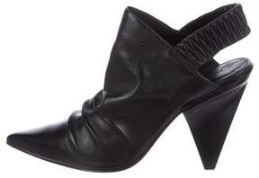 Sigerson Morrison Leather Slingback Booties
