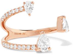 Anita Ko Saturn 18-karat Rose Gold Diamond Ring