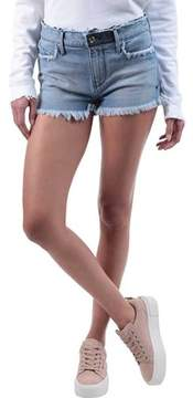 RtA Olivia High Waist Denim Short in Blue Collar (Women's)