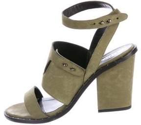 Freda Salvador Suede Ankle Strap Sandals