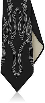 Ralph Lauren Purple Label Men's Western-Embroidered Silk Twill Necktie