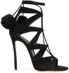 DSQUARED2 pom pomp detail sandals