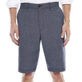 Claiborne Flat-Front Cotton Shorts