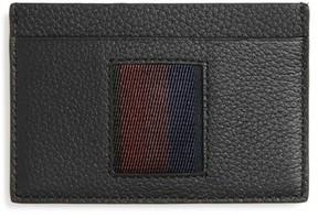 Paul Smith Men's Stripe Webbing Leather Card Case - Black