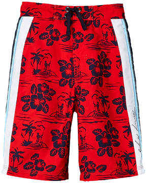 Tommy Hilfiger Boys' Kito Hibiscus Colorblock Swim Trunk