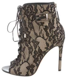 Brian Atwood Lindford Lace Booties