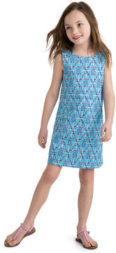 Vineyard Vines Girls Shell Diamond Shift Dress