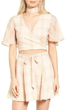 Privacy Please Zorn Surplice Neck Crop Top