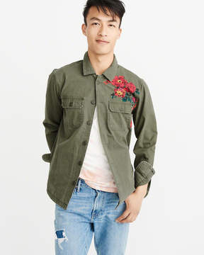 Abercrombie & Fitch Embroidered Shirt Jacket
