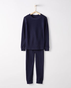 Hanna Andersson Thermal Long John Pajamas In Organic Cotton