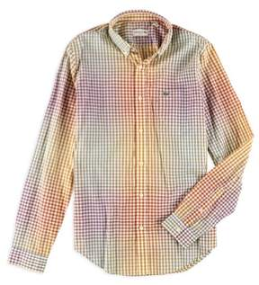 Lacoste Mens Checkered Button Up Shirt Multicoloured M
