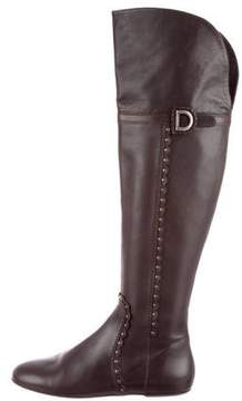 Christian Dior Leather Over-The-Knee Boots