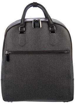 Tumi Leather-Trimmed Backpack