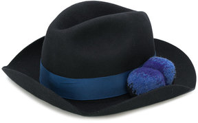 Paul Smith trilby with pom-poms