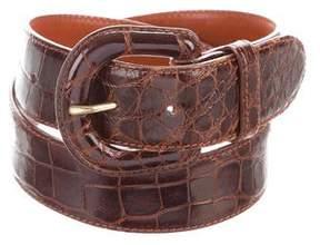 Ralph Lauren Alligator Buckle Belt
