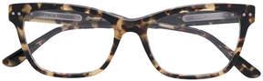 Bottega Veneta rectangle frame woven detail glasses
