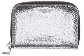 Michael Kors Metallic Leather Mini Wallet
