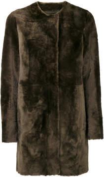 Drome furry detail buttoned up coat